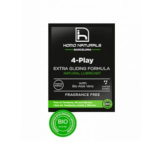 Homo Naturals Lubricante 4-Play Natural